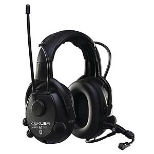 Hörselkåpa Zekler Skydda 412RDB, radio, svart, SNR 30 dB
