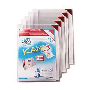 Pack de 5 bolsas adesivas porta-anúncios Kang Tarifold - A5 - 200 μ