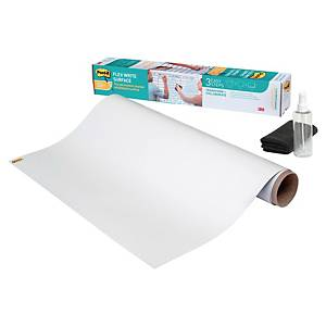 Tableau blanc adhésif Post-it Super Sticky - uni - rouleau de 60,9 x 91,4 cm