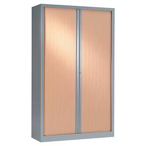 Armoire à rideaux démontable Pierre Henry - 198 x 120 cm - alu/hêtre