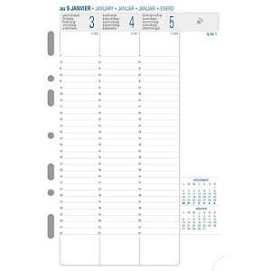 Recharge pour organiseur Exatime 21, 7 jours sur 2 pages, vertical