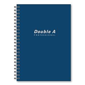 DOUBLE A สมุดบันทึกริมลวด A5 70แกรม 40แผ่น สีน้ำเงิน