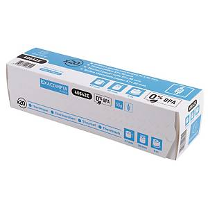 Exacompta Credit Card Machine Receipt Rolls, 57mmx9M, Box Of 20