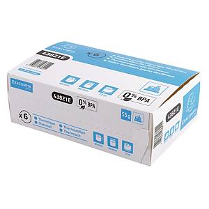 Exacompta Cash Register Receipt Rolls, 80Mx72M, Box of 6