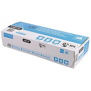Exacompta Cash Register Receipt Roll, 80mm X 76M, Box of 10
