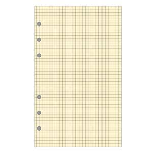 Vulling voor Exatime 21 organizer, 40 vellen geel geruit papier, verticaal