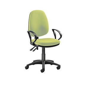 Origin High Back Operators Chair w/Arms Green