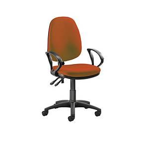 Origin High Back Operators Chair w/Arms Orange