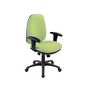 RE1 Deluxe High Back Operators Chair With Synchron - Green