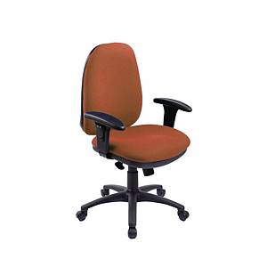 RE1 Deluxe High Back Operators Chair With Synchron - Orange