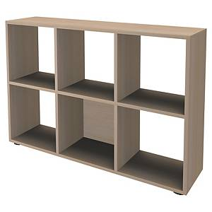 Bibliothèque casier Simmob - 6 cases - H 84 cm - hêtre