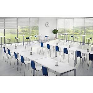 Siège de cafétéria Eol Spoon, bois, bleu/blanc, les 2 sièges