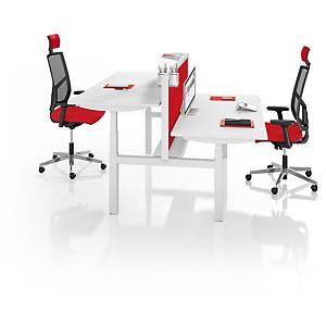 Eol Easy Up gedeeld onderstel bureau, hoogteregeling, L 160 x D 80 cm, wit