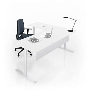 Eol Essentiel I bureau, met hoogteregeling, L 160 x D 80 cm, wit blad