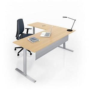 Eol Essentiel I bureau, met hoogteregeling, L 180 x D 80 cm, eiken blad