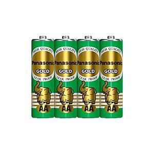 PANASONIC Gold R6Gt/4Sl Carbon Zinc Batteries AA Pack Of 4