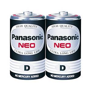 PANASONIC Neo R20Nt/2Sl Carbon Zinc Batteries D Pack Of 2
