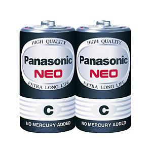 PANASONIC Neo R14Nt/2Sl Carbon Zinc Batteries C Pack Of 2