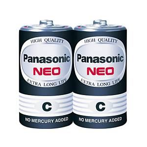 PANASONIC NEO ถ่านคาร์บอนซิงค์ R14NT/2SL 1.5 โวลต์ 2 ก้อน