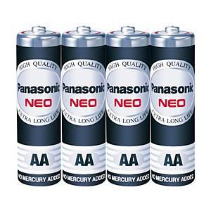 PANASONICNeo R6Nt/4Sl Carbon Zinc Batteries AA Pack Of 4