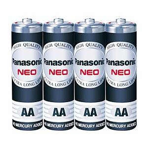 PANASONIC NEO ถ่านคาร์บอนซิงค์ R6NT/4SL AA 1.5 โวลต์ 4 ก้อน