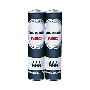 PANASONIC Neo R03Nt/2Sl Carbon Zinc Batteries AAA Pack Of 2