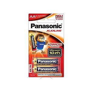 PANASONIC ถ่านอัลคาไลน์ LR6T/2B AA 1 แพ็ค บรรจุ 2 ก้อน