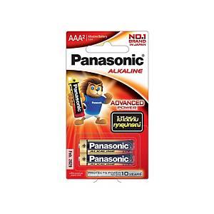 PANASONIC ถ่านอัลคาไลน์ LR03T/2B AAA 1 แพ็ค บรรจุ 2 ก้อน