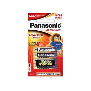 PANASONIC ถ่านอัลคาไลน์ LR03T/8B AAA 1 แพ็ค บรรจุ 8 ก้อน