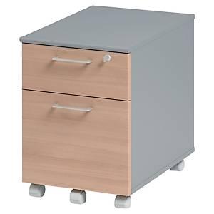 Caisson mobile en bois Gautier Office Jazz+ - 2 tiroirs - hêtre
