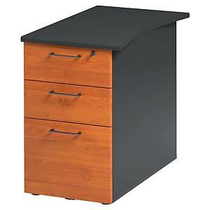 Caisson bout de bureau Gautier Office Jazz + - 3 tiroirs - P 80 cm - aulne