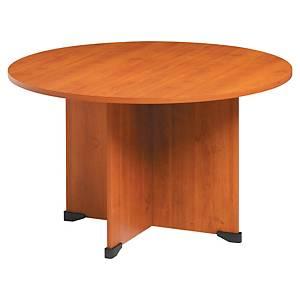Table ronde Gautier Office Jazz - pieds panneaux - Ø 120 cm - aulne