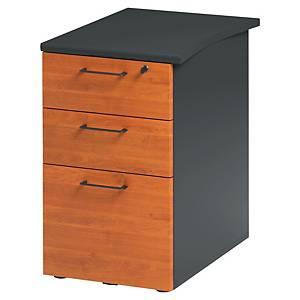 Caisson bout de bureau Gautier Office Jazz+ - 3 tiroirs - P 61 cm - aulne