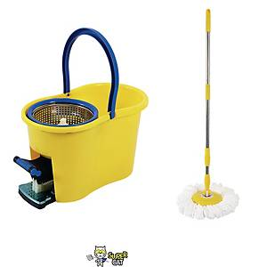 SUPERCAT Spin Bucket with Mop Yellow