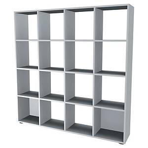 Bibliothèque casier Simmob - 16 cases - H 163 cm - blanche