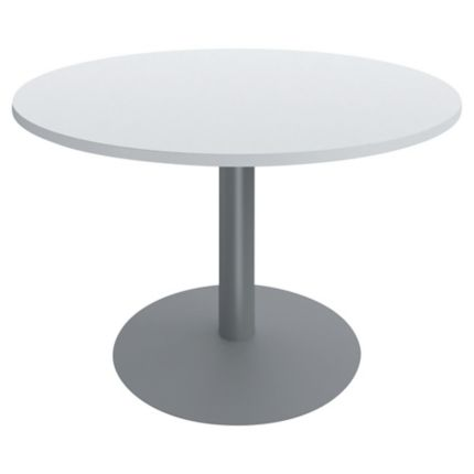 Table ronde diametre 100 cm blanche pied tulipe buronomic Table ronde 100 cm