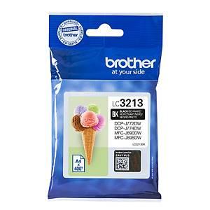 Tintenpatronen Brother LC-3213, 400 Seiten, schwarz