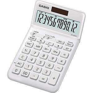 Tischrechner Casio JW-200SC, 12stellig, Solar-/Batteriebetrieb, weiß
