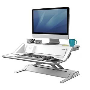 Station de travail assis-debout Fellowes Lotus™ DX - blanche