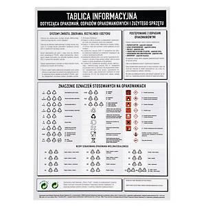 Tablica inf. dotycząca opakowań i odpadów opakowaniowych i zużytego sprzętu, A3