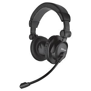 Headset Como Trust, Kunststoff, schwarz