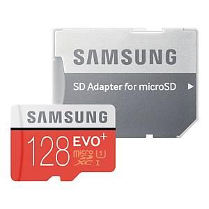 Karta pamięci Samsung Evo+ microSD z adapterem, 128 GB
