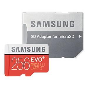 SAMSUNG EVO+ MICROSD 256GB W/ADAPT