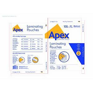 Fellowes Apex Laminating Pouch Medium A3 - Box of 100