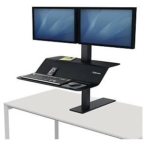 Sitz-Steh Workstation Lotus™ VE Fellowes, 2 Monitore, schwarz