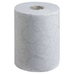 Pack 6 bobinas de toalhas de mãos Kleenex - 100 m - Folha dupla - branco