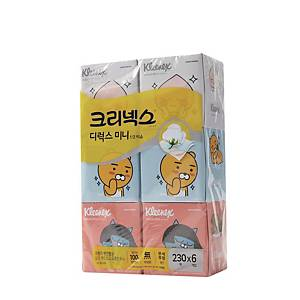 PK6 KLEENEX KAKAO FACIAL TISSUES 230SHEET