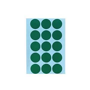 สติกเกอร์วงกลม ขนาดเส้นผ่านศูนย์กลาง 20มม สีเขียว 90 ดวง