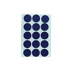 สติกเกอร์วงกลม ขนาดเส้นผ่านศูนย์กลาง 20มม สีน้ำเงิน 90 ดวง