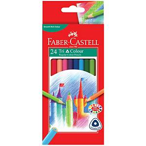 Fargeblyanter Faber-Castell Tri Colour, pakke à 24 assorterte farger